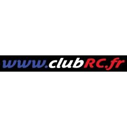 Le sticker adresse Club RC...